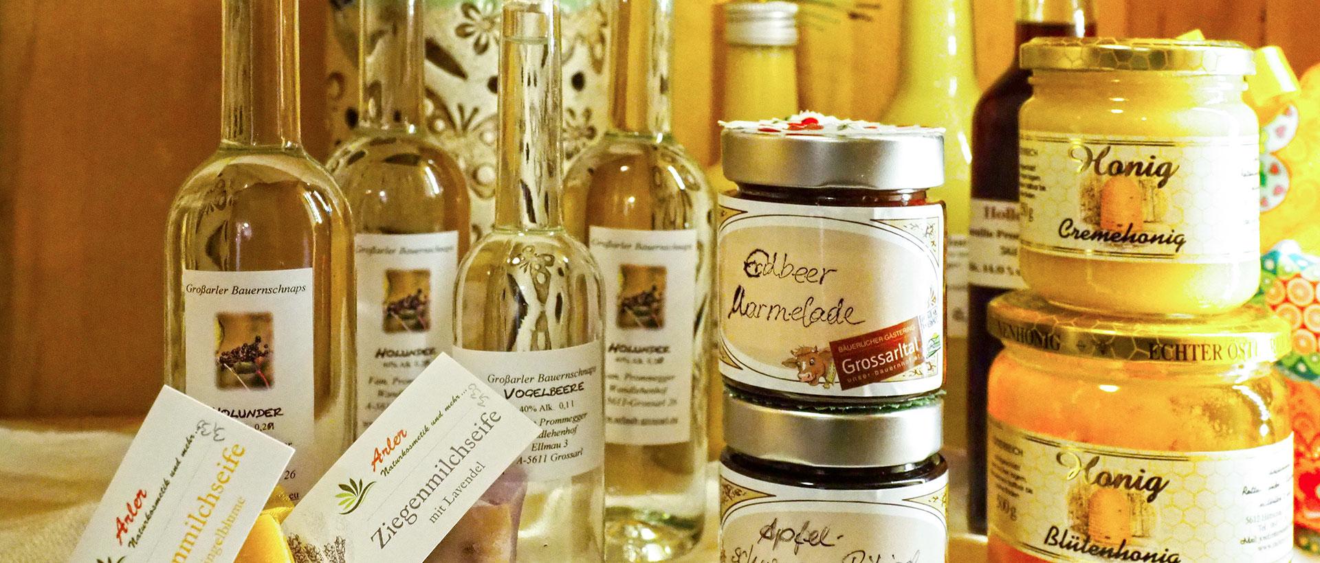 Hofeigene Produkte - Wandlehenhof in Großarl